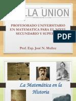 Matemática Historia de Sus Orígenes