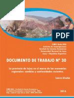 Documento de Trabajo Nº 30 (2016) Alcoba