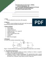 02 - Roteiro Circuito Retificador de Meia Onda e Filtro Capacitivo