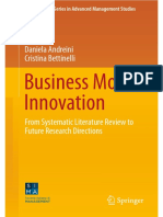(International Series in Advanced Management Studies) Daniela Andreini, Cristina Bettinelli (Auth.)-Business Model Innovation_ From Systematic Literature Review to Future Research Directions-Springer