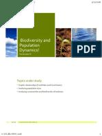 biodiversity and population dynamics