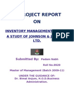 Final Project on Inventory Management in Johnson & Johnson