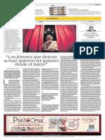 """""""Los jóvenes que desean actuar quieren ser galanes desde el inicio"""" - Reynaldo Delgado - El Comercio - 21.12.2013"""