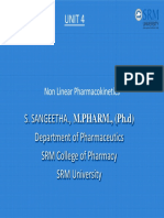 Nonlinear Pharmaco Kinetics