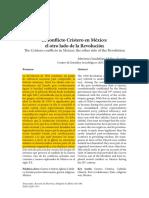 El Conflicto Cristero En Mexico Maria na Guadalupe Fuentes Molina
