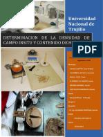 Informe Densidad de Campo Mediante Cono Se Arena y Humedad Mediante Speedy