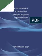 Updated Template for Dissertation Presntation