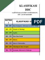 Klasifikasi DDC