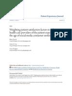 Weighting Patient Satisfaction Factors