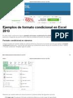 Ejemplos de Formato Condicional en Excel 2013 - Excel Total
