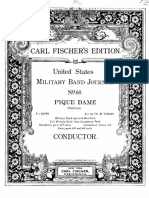 Pique Dame score and parts for concert band