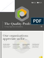 The Quality Profession Driving Organisational Excellence
