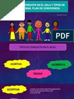 Tipos de Conducta en El Aula y Tipos de Problemas, Plan de Convivencia