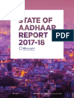 state of aadhar report 2018