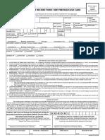 Cash Card Customer Record Form