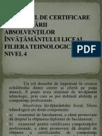 Prezentare Cerc Certificarea Profesionala Nivel 4