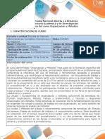 Syllabus Del Curso Organización y Métodos
