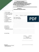 Biodata Pendaftaran Pendamping
