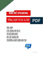 Kho Đề Speaking Dl Full