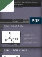 Pembuatan Dimetil Eter Dari Metanol Dengan Proses Dehidrasi Pei Dan Tia