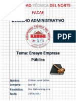 Ensayo. Empresa Pública - Cristian Juma - 5 - B