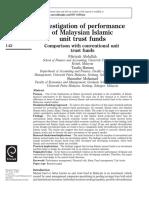 00100 Investigation Performance Msian Islamic Trust Fund Comparison Conventional Abdullah Etal
