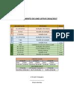 Planeamento Do Ano Letivo 2016 - 17