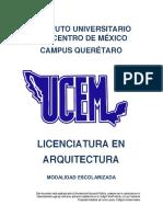 Lic. Arquitectura Materias Ucem