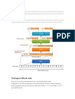Transport Block Size, Throughput and Code Rate