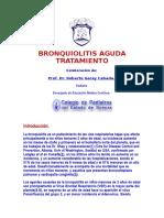 BRONQUIOLITIS AGUDA TRATAMIENTO