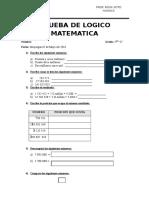 Prueba de Logico Matematica Quinto 1.2018