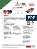 Viper x1950pro512pcie x1950pro Pcie 512mb Spec Sheet