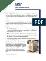 Temperature Uniformity Testing in Biotech Application
