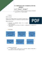Prelaboratorio-síntesis de Un Compuesto de Coordinación de Hierro