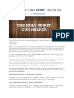 5 Ways the Holy Spirit Helps Us
