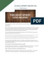 5 Ways the Holy Spirit Helps Us