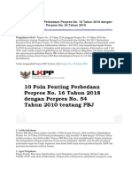 10 Poin Penting Perbedaan Perpres No. 16 Thn 2018 Dgn Perpres No. 54 Thn 2010