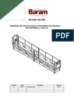 Memorial de Cálculo de Balancins 6 Metros