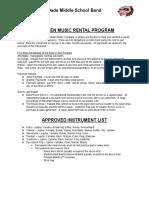 Instument Rental Information