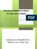Program Pemerintah Terkait Hiv-Aids, Ims & Kanker