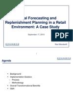 ASCP 091710 Central Forecasting - Retail