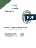 Medición de Temperatura y Presiones