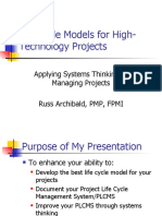 Life Cycle Models for High Technology Projects 2262