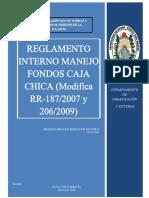 REGLAMENTO INTERNO MANEJO DE CAJA CHICA U.A.G.R.M.