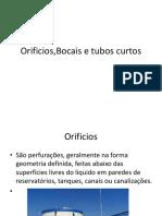 Orificios,Bocais e Tubos Curtos