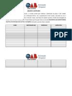 Abaixo-Assinado - Defensoria Dativa