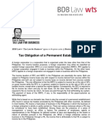544. Tax Obligation of a Permanent Establishment - FDD 11 3 16