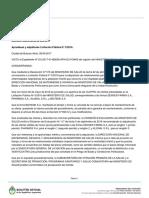 Decisión Administrativa Aprobando y Adjudicando Licitación Pública.