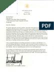 President Trump's letter to Kim Jong Un