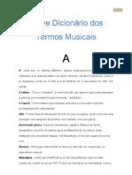 Breve Dicionário de Termos Musicais